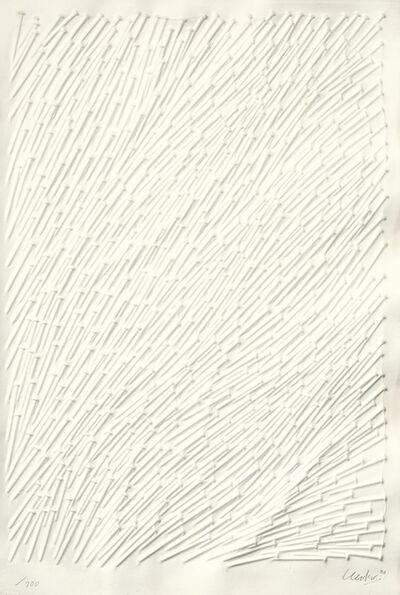 Günther Uecker, 'Bewegtes Feld', 2000