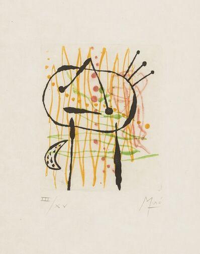 Joan Miró, 'Untitled from La Bague D'Aurore (Dupin 134)', 1957