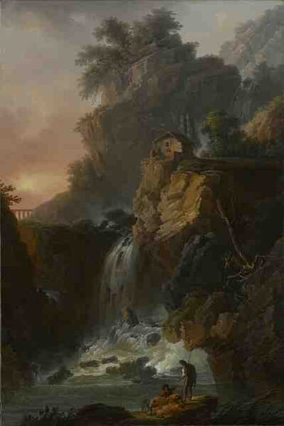 Claude-Louis Châtelet, 'Capriccio View of a large Cascade with a Cliff', Late 18th Century