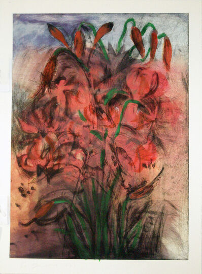 Jim Dine, 'Red Pepper Lilies', 1999
