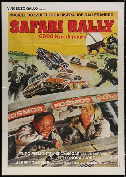 Anon, 'SAFARI RALLY Italian 1p 1978 6000 km di paura, Originario car racing art in Africa!', 1978