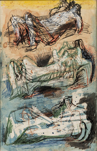 Henry Moore, 'Three Reclining Figures: Studies for Sculpture', 1940
