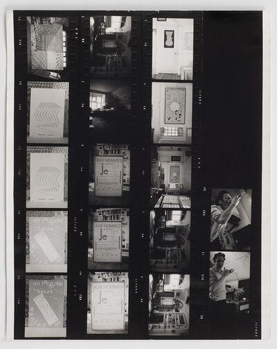 Henri Chopin, 'Whitechapel Art Gallery Contact Sheet', 1977