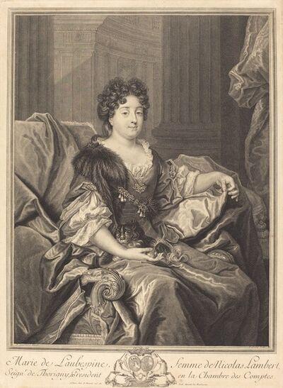 Pierre Drevet after Nicolas de Largilliérre, 'Marie de Laubespine'