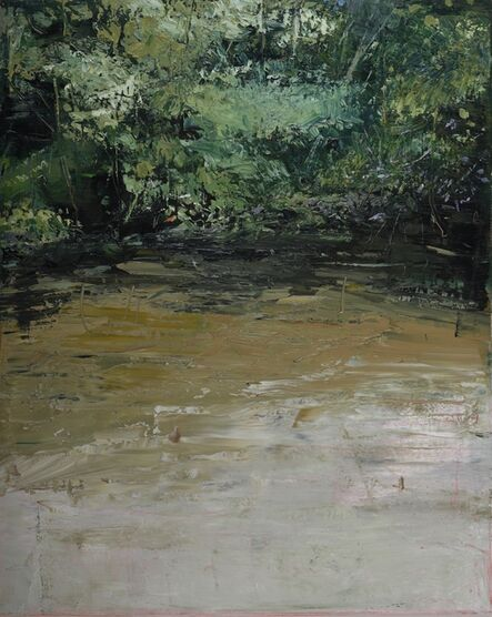 Donald Teskey, 'Riverbank with Buddleja III', 2017