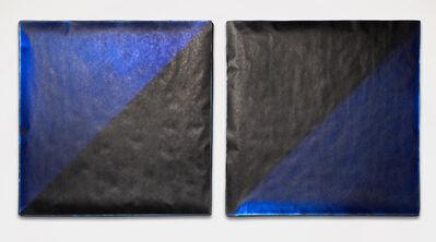 Florence Miller Pierce, 'Untitled # 348 (blk.blu diptych)', 1999