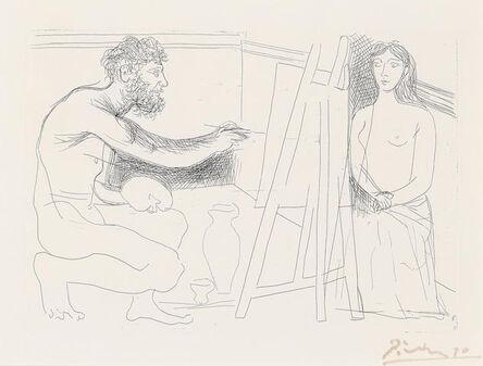 Pablo Picasso, 'Peintre devant son Chevalet, from Le Chef-d'Oeuvre Inconnu (B. 93, g. 134)', 1927