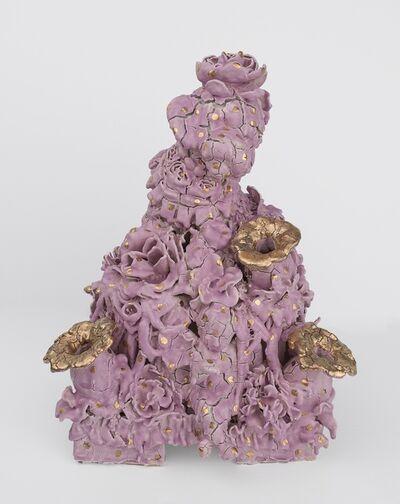 Anthony Sonnenberg, 'Tulip Vase (Lavender and Gold)', 2019