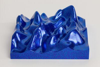 Peter Saville, 'Unknown Pleasure, Metal Flake 013118 blue indigo', 2015