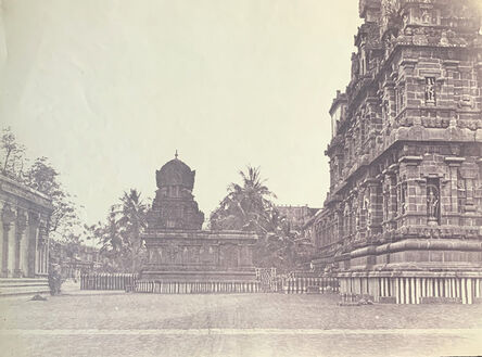 Linnaeus Tripe, 'Great Pagoda, Northern Side of the Great Central Tower and the Temple of the Goddess Parvati, (Brihadishvara Temple), Thanjavur.', ca. 1858