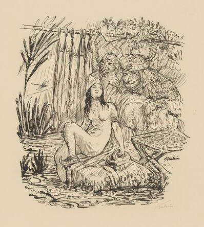 Alfred Kubin, 'Susanna and the Elders', 1923