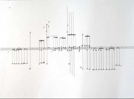 Marina Rosenfeld, 'Room Recording With Two Events, Geese, Notation (Deathstar, Portikus, April 10, 2017)', 2017