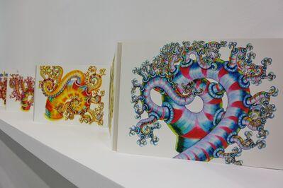 河口洋一郎Kawaguchi Yoichiro, '手稿屏風Folding Panel_數位輸出,木板_Print, Wooden Board_100x182x1cm_', 2000