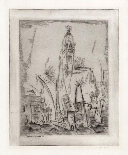 John Marin (1870-1953), 'Woolworth Building, No. 2.', 1913