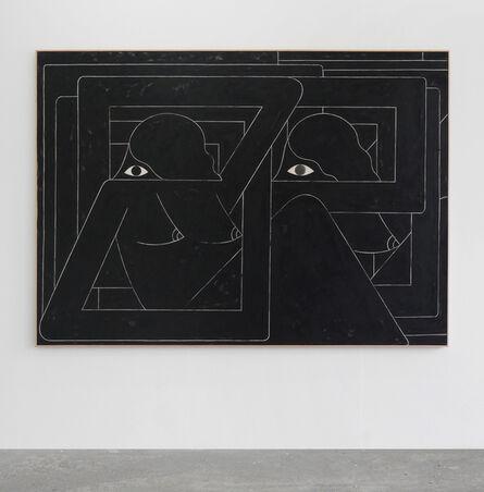 Richard Colman, 'Un Esto Unidos (2 Figures. Black)', 2016