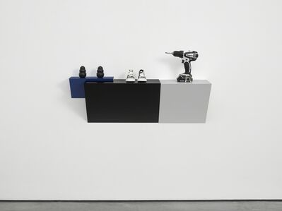 Haim Steinbach, 'Untitled (2 kongs, sneakers, drill)', 2015