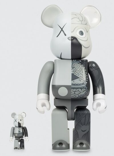 KAWS, 'Dissected Companion: Bearbrick 400% & 100% (Grey)', 2010