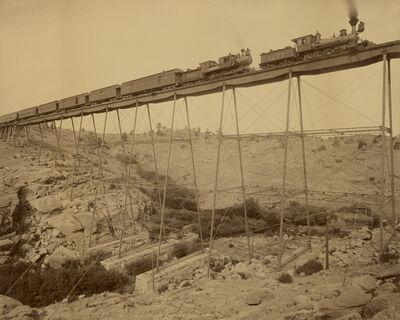 William Henry Jackson, 'Dale Creek Bridge, Union Pacific Railway', 1885
