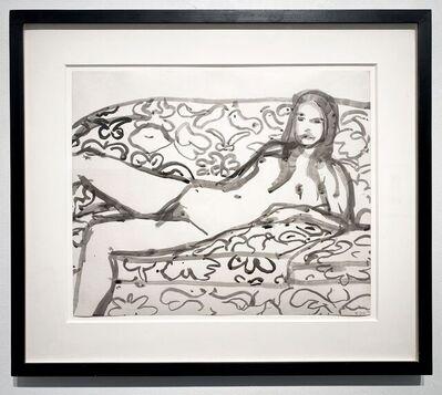 Richard Diebenkorn, 'Reclining Nude on Flowered Sofa', 1967