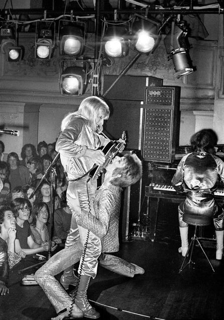 Mick Rock, 'Bowie Ronson Guitar Fellatio', 1972