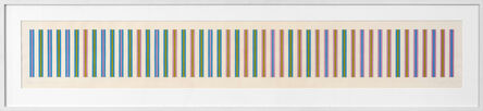 Bridget Riley, 'Sequence study 2, turquoise, ochre, magenta', 1973