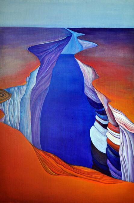 Jiseon Kim, 'Orange Geometric Landscape', 2013