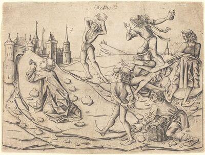 Israhel van Meckenem, 'The Stoning of Saint Stephen', ca. 1470