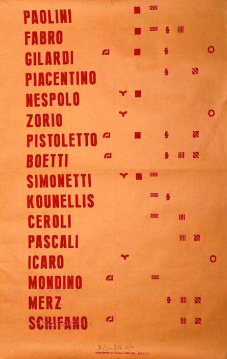 Alighiero Boetti, 'Manifesto', 1967-1970