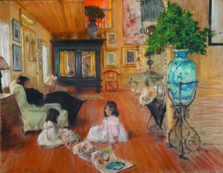 William Merritt Chase, 'Hall at Shinnecock', 1892