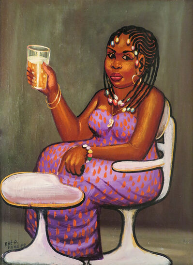 Moke, 'La Buveuse de bière', 1982