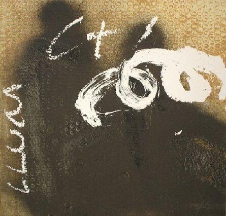 Antoni Tàpies, 'Espiral sobre negre', 1998