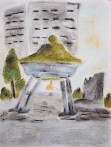 Louise Kavadlo, 'Japanese Peace Bell at UN', 2018