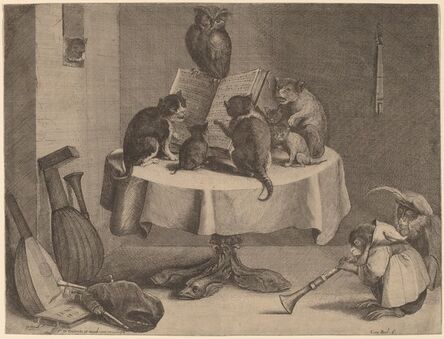 Coryn Boel after David Teniers the Younger, 'The Cat's Concert'