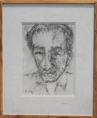 Akbar Padamsee, 'Face III; potrait of a common man in chinese ink by Padma Bhushan awardee Akbar Padamsee', 2007