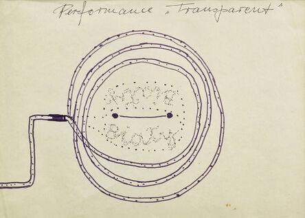 "Maria Pinińska-Bereś, 'Sketch for the performance ""Banner"" (Transparent)|', 1980"