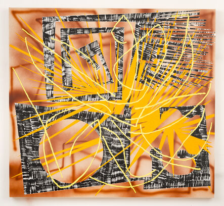 Trudy Benson, 'Yellow and Black Fret', 2016