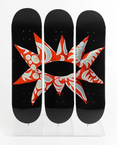 Yayoi Kusama, 'Flowering Heart Triptych Skate Deck', 2017