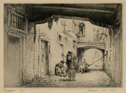 Edgar Chahine, 'Sotto Portico Molin, Venice', 1922