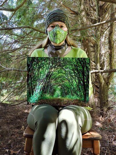 Robin MacDonald-Foley, 'Under the Hemlocks in Paper Mask', 2020