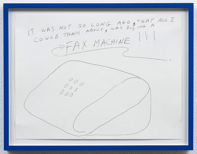 Michael Smith (American, b. 1951), 'From Fax Machine Series', ca. 1996