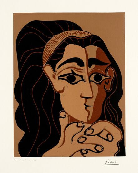 Pablo Picasso, 'Portrait de Jacqueline au bandeau', 1962