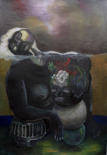 Nkechi Ebubedike, 'Woman on riverbed', 2020