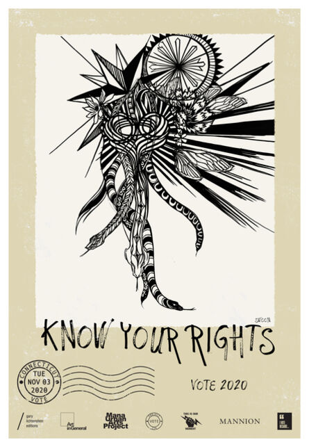Swoon, 'Connecticut Get Out The Vote Poster by Swoon', 2021