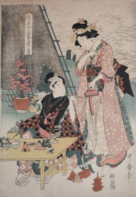 Kitagawa Utamaro II, 'Asakusa Market in Early Summer', 1807