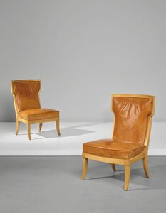 André Arbus, 'Pair of chairs, designed for the 'Jean Laborde' ocean liner', circa 1953