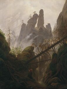 Caspar David Friedrich, 'Rocky Landscape in the Elbe Sandstone Mountains', 1822
