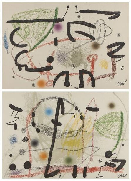 Joan Miró, 'Maravillas con Variaciones Acrosticas en El Jardín de Miró (Plate 13 and 17)', 1975