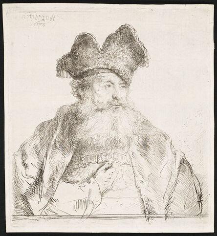 Rembrandt van Rijn, 'OLD MAN WITH A DIVIDED FUR CAP', 1640