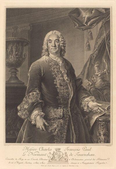 Nicolas-Gabriel Dupuis after Louis Tocqué, 'Charles Francois Paul Le Normant de Tournehem', 1754