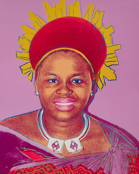 Andy Warhol, 'Queen Ntombi Twala of Swaziland (Unique TP)', 1985